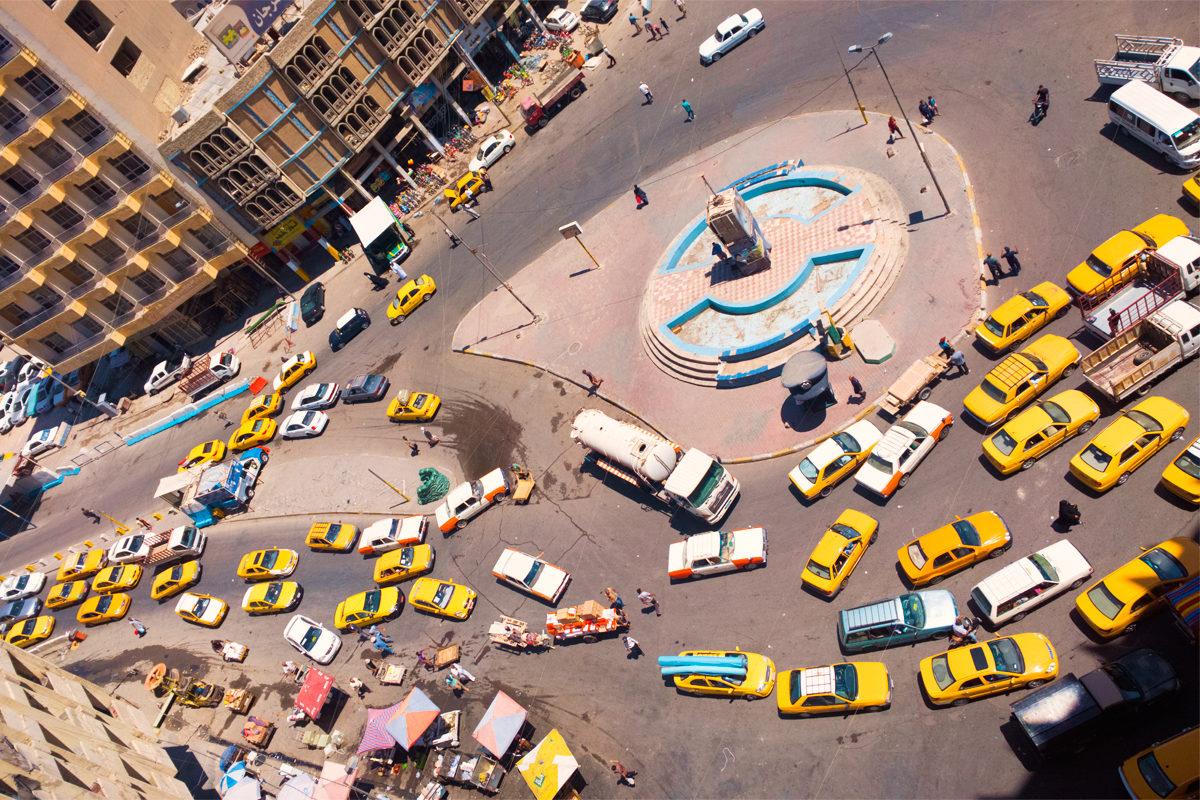 Транспортное движение в Багдаде