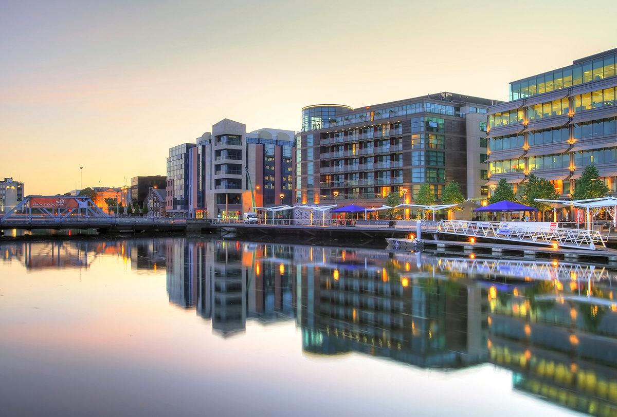 Уютный городок Корк, Ирландия