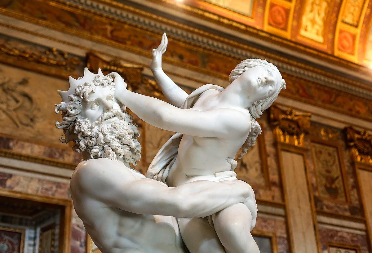 Похищение Прозерпины, скульптура из мрамора,Галерея Боргезе
