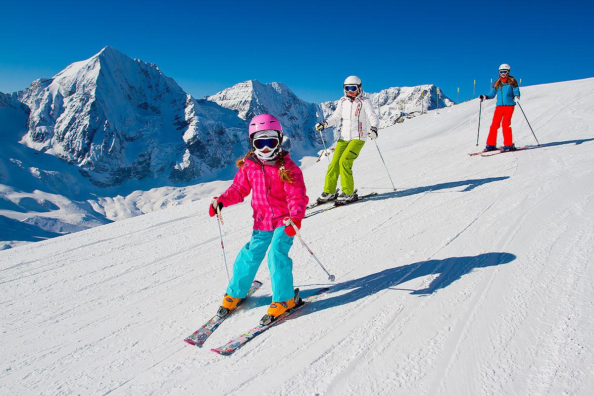 Детки на лыжах