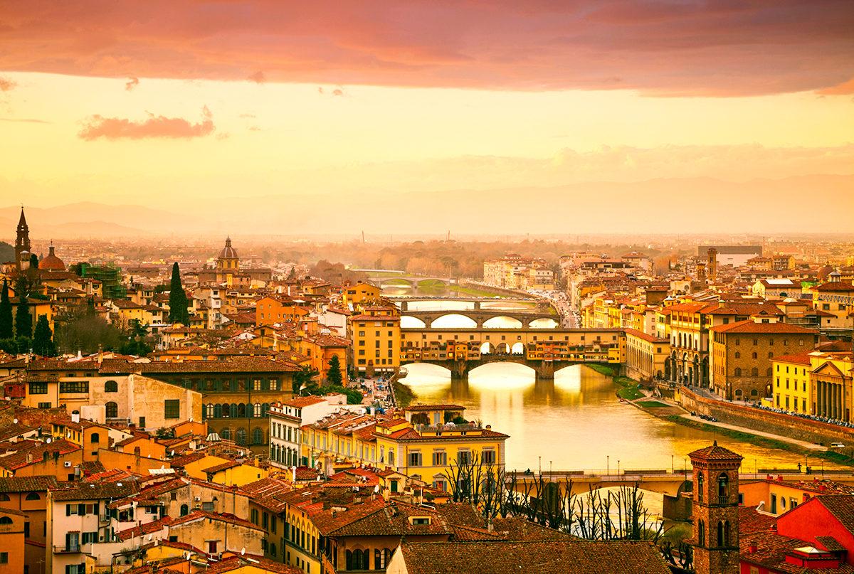 Мосты Флоренции, панорама