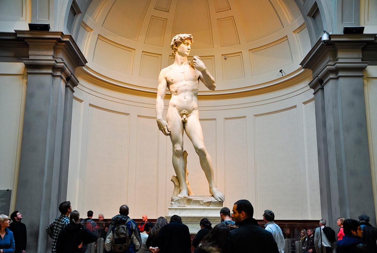Статуя Давида в Академии изящных искусств, Флоренция