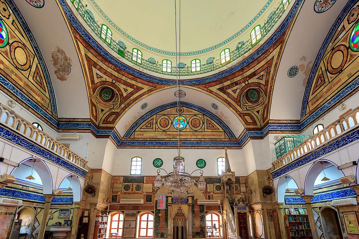 Мечеть Аль-Джаззар, внутреннее убранство