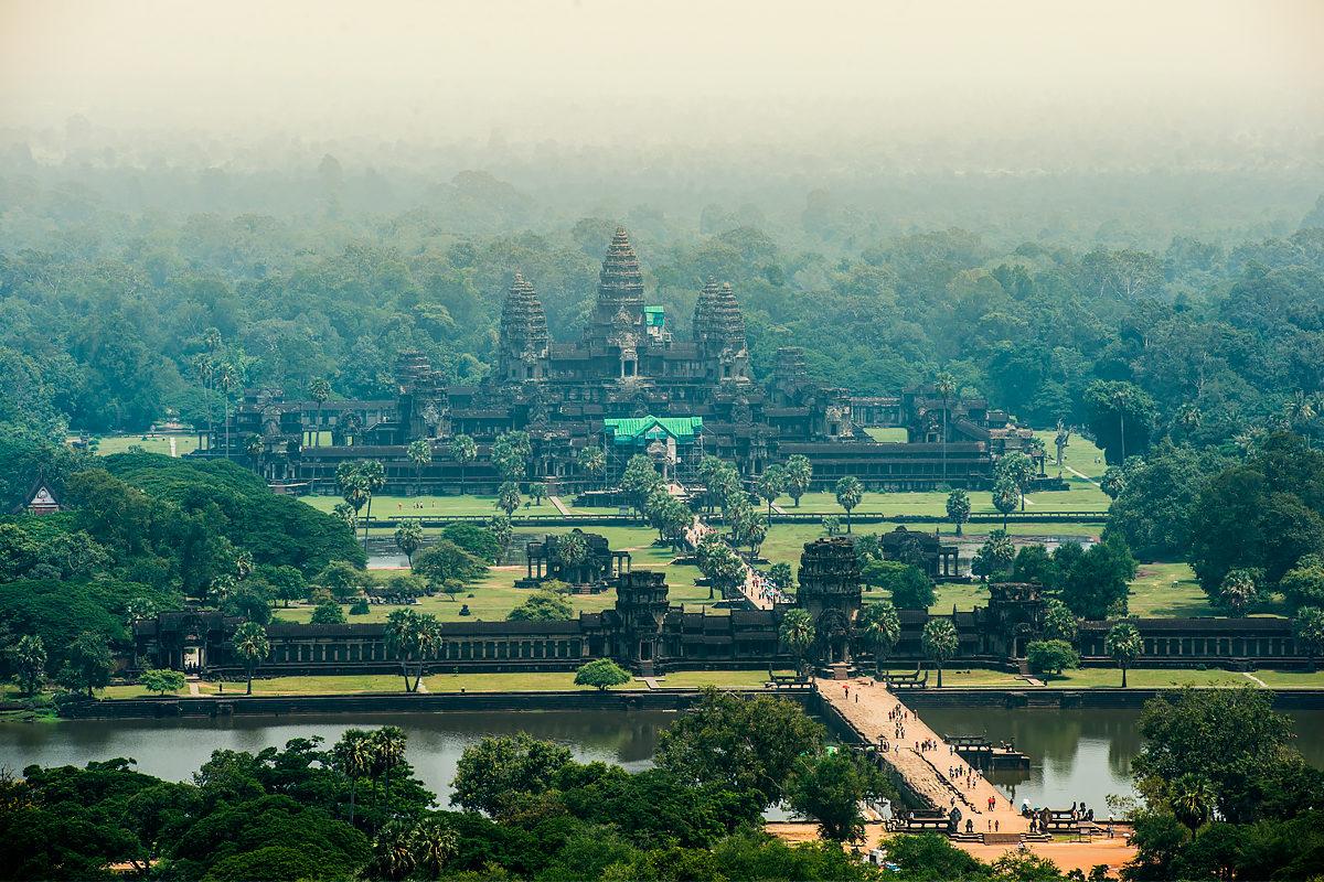 Ангкор, общий вид с воздуха