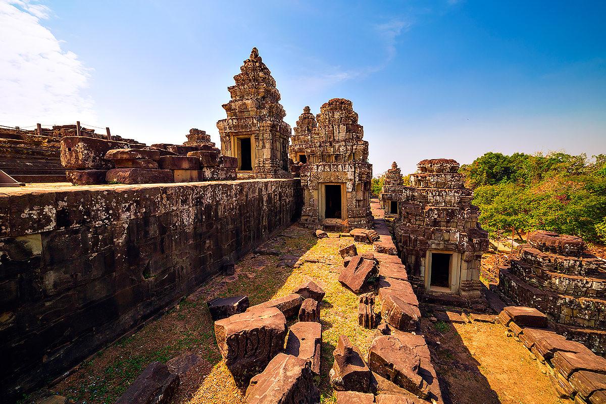 Вид на руины Пном Бакенг