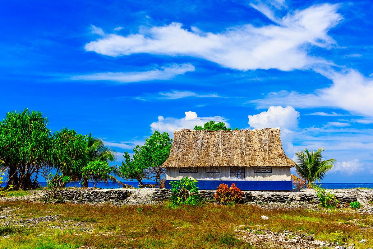 Традиционное жилище жителей Кирибати