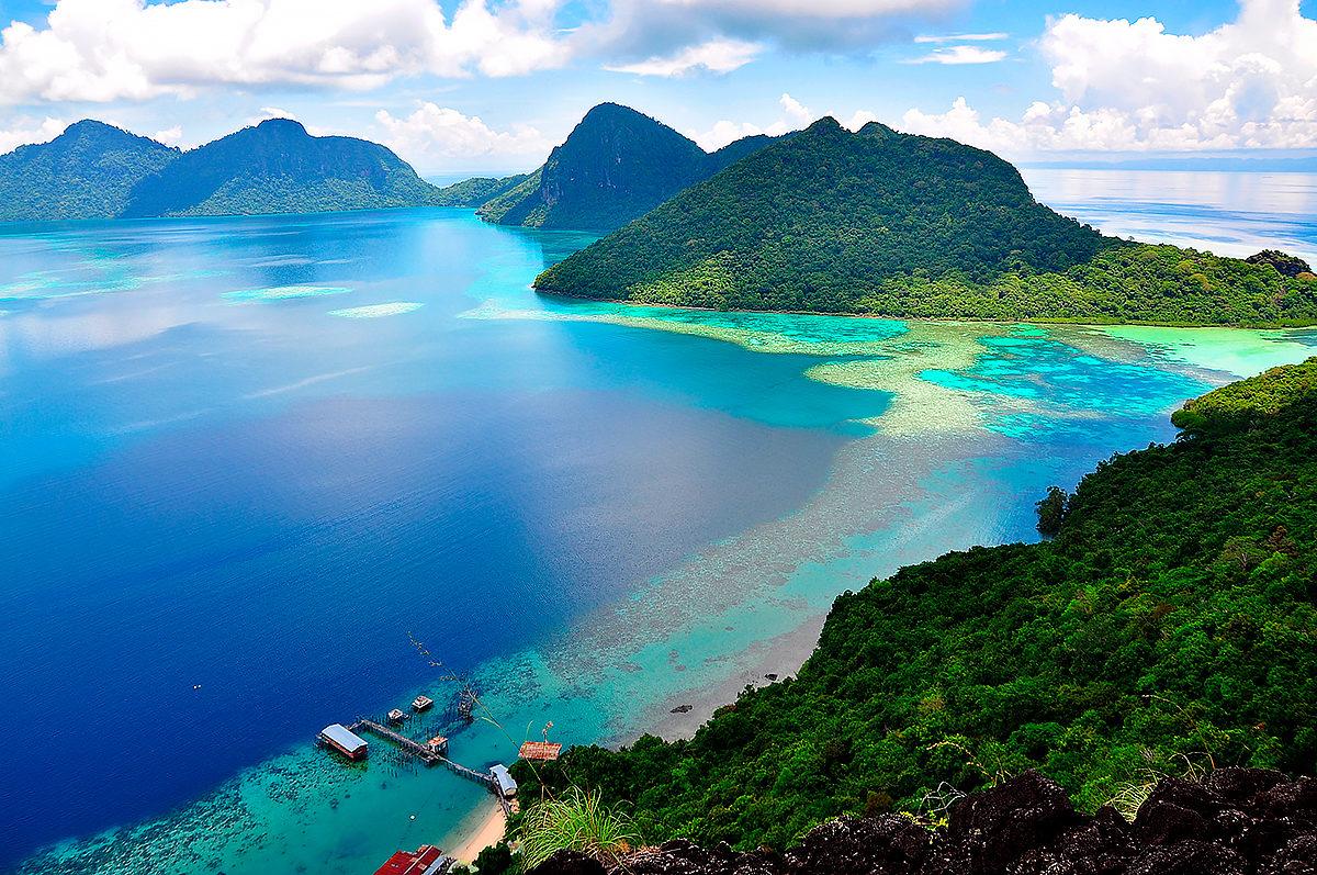 Морской пейзаж Малайзии