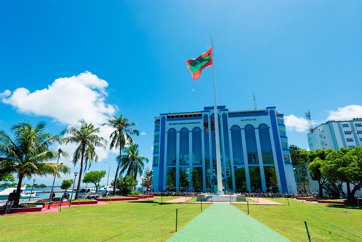 Пример архитектуры в столице Мальдив
