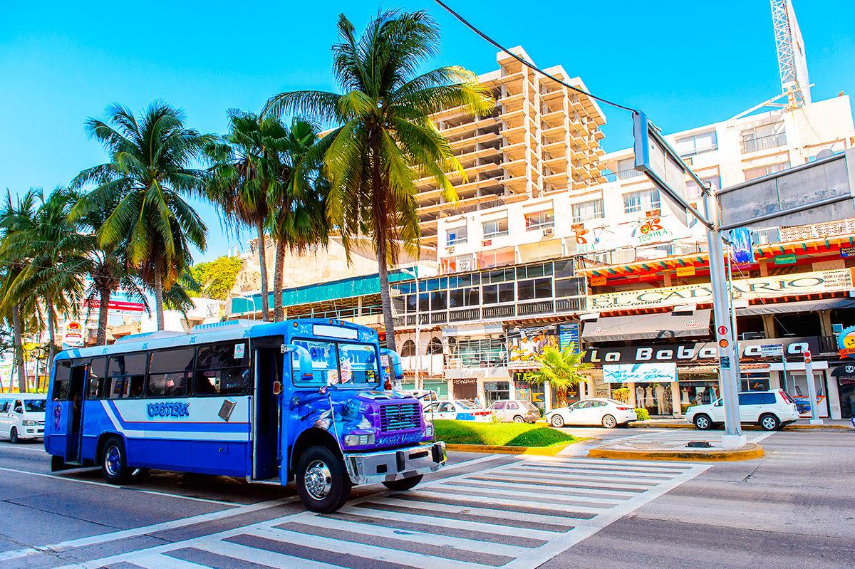 Автобусы бывают разные-желтые, синие, красные