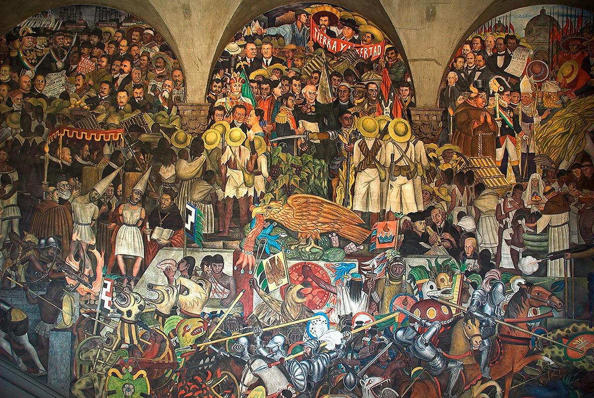 Фрески Диего Ривера в Секретариате народного образования