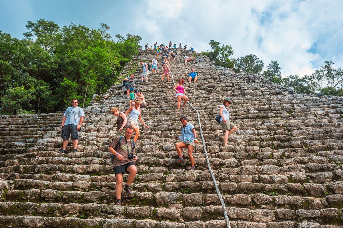 Коба, одна из пирамид