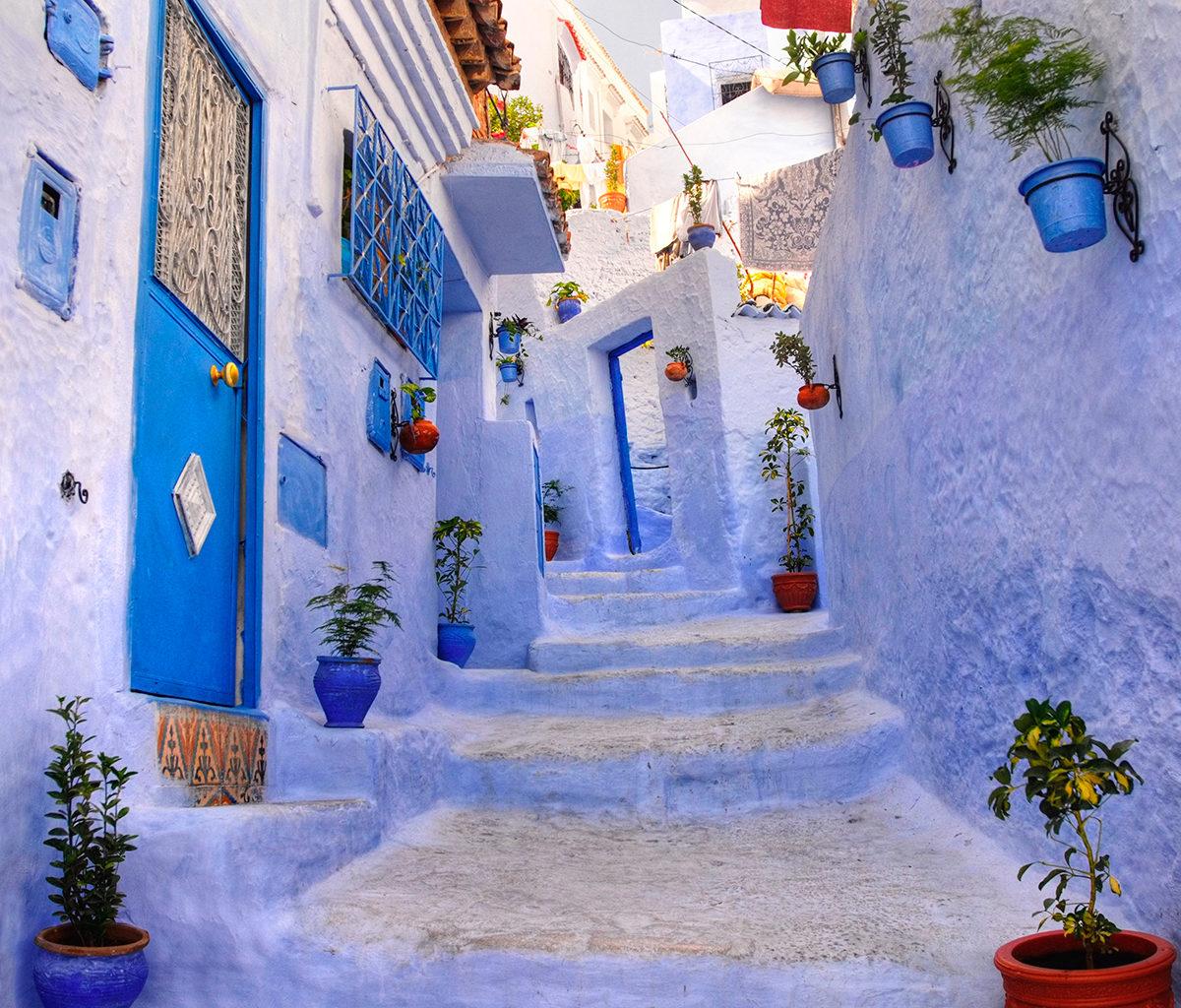 Красочная марокканская улочка