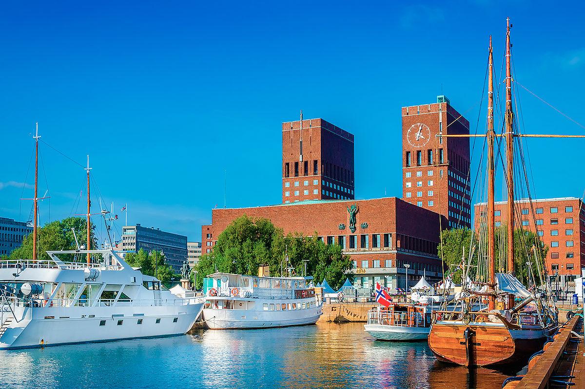 Вид на Ратушу Осло