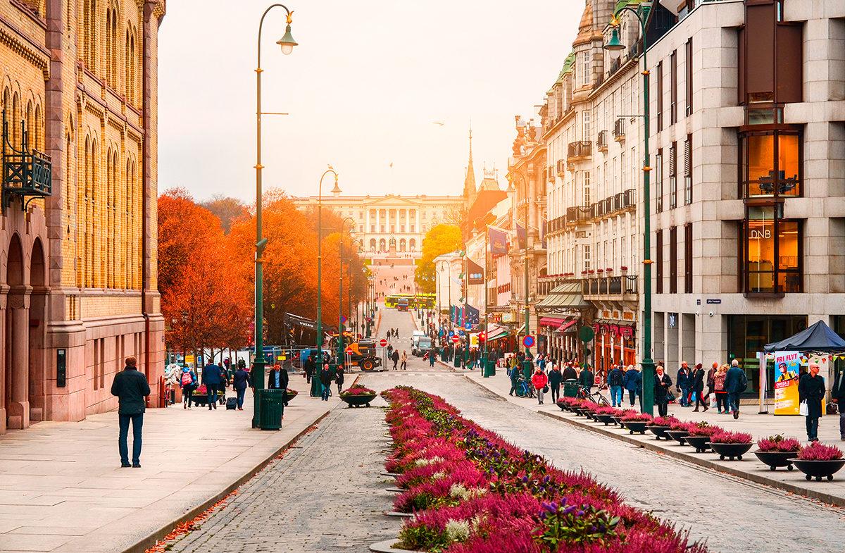 Улица Karl Johans Gate, Осло