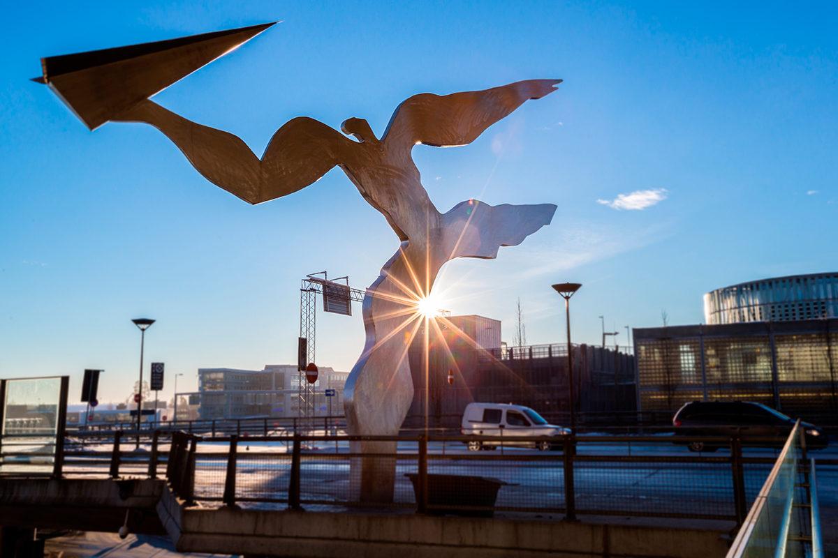 У аэропорта Gardermoen, Осло