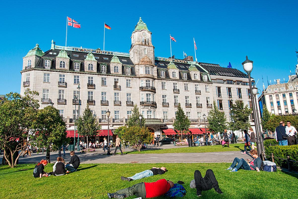 Изысканная архитектура одного из отелей Осло