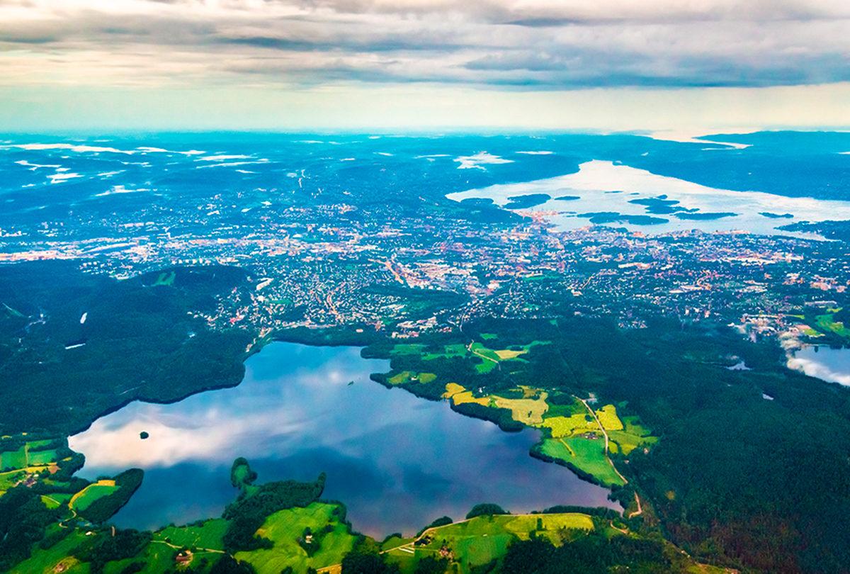 Окрестности Осло, панорама