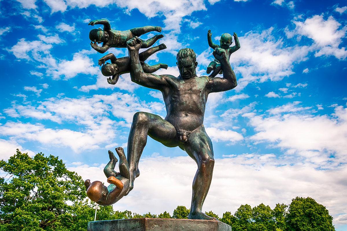 Необычный Вигеланд парк, Осло