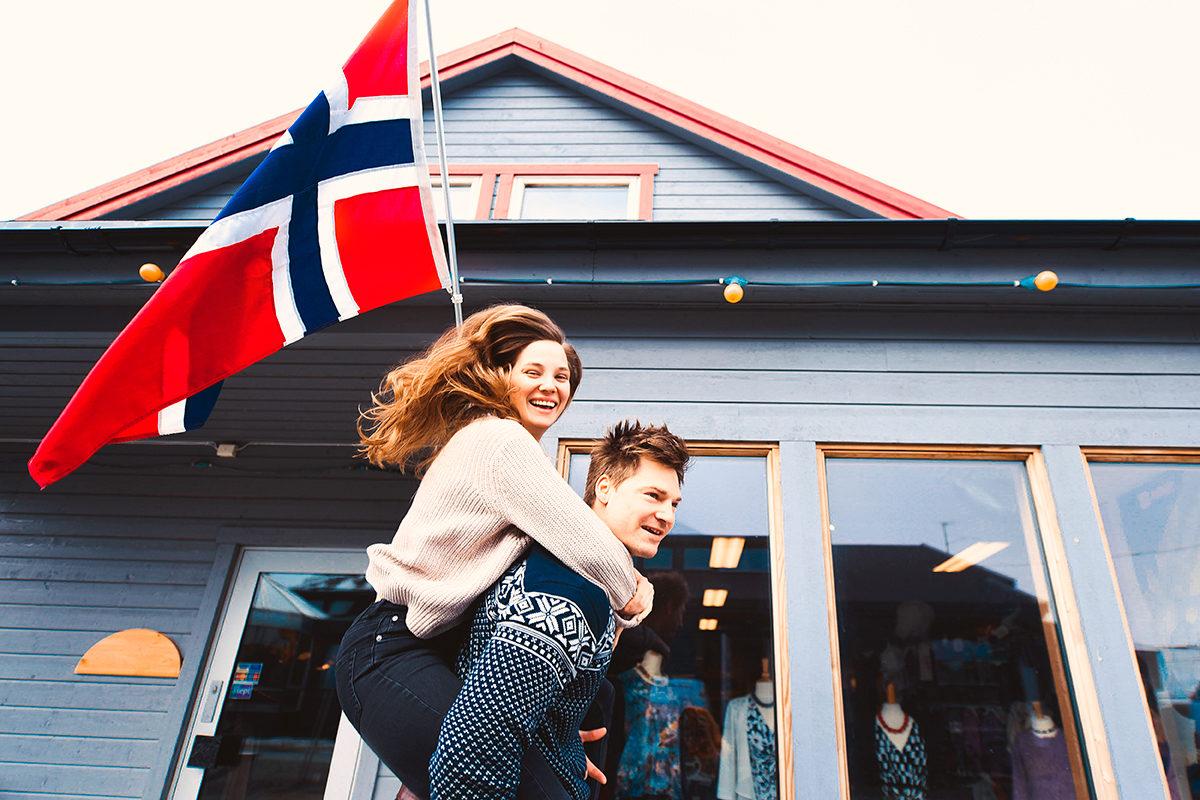 Купила мужу норвежский свитер - можно и покататься
