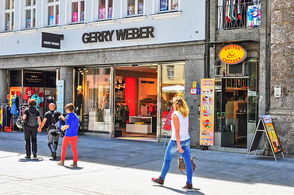 На одной из торговых улиц Инсбрука