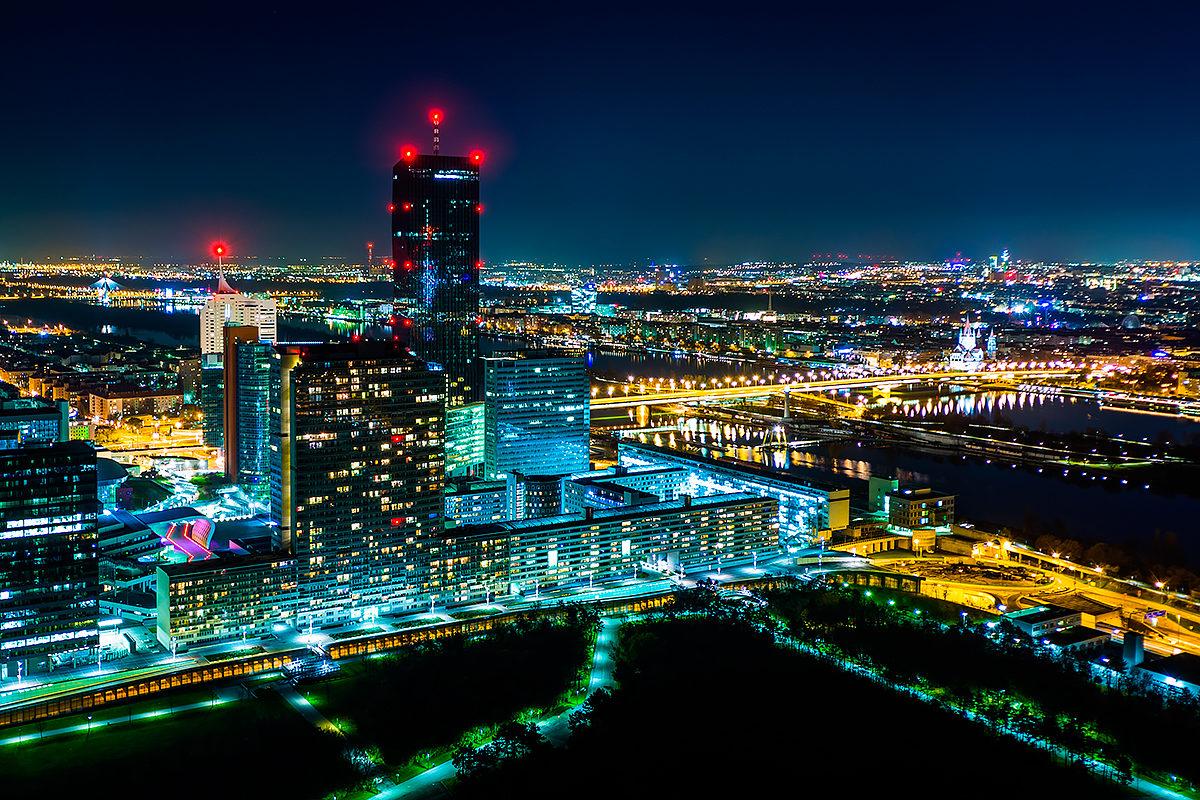Городской пейзаж с высоты Дунайской башни