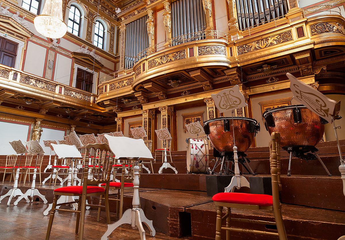Интерьер Венской филармонии
