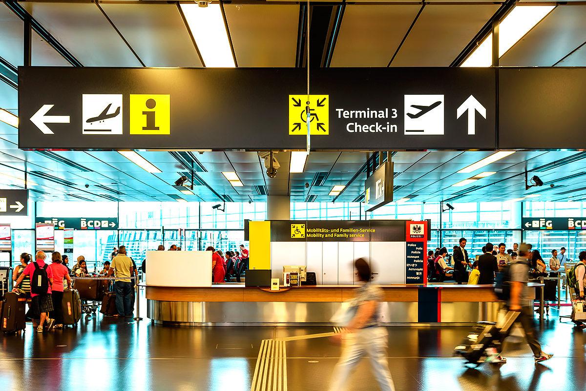 Терминал международного аэропорта Вены