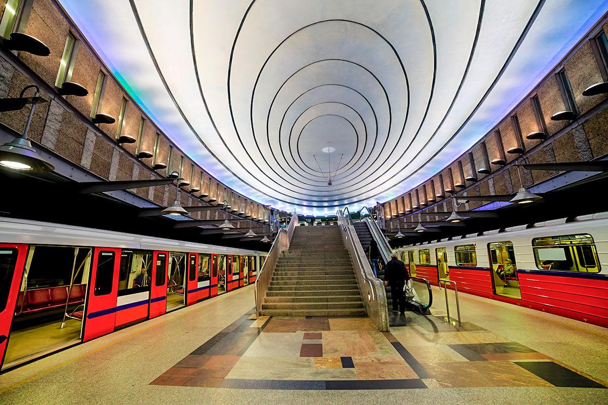В варшавском метро