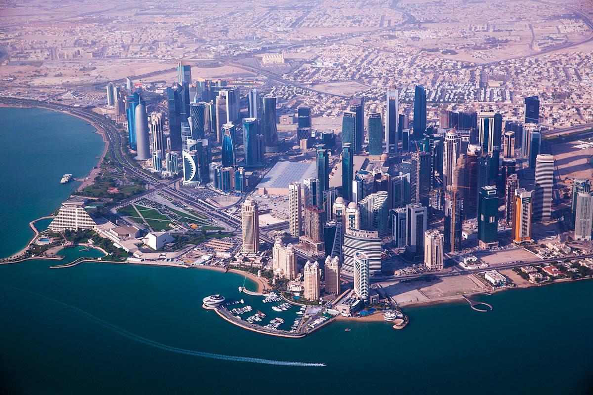Столица Катара, вид с высоты птичьего полета