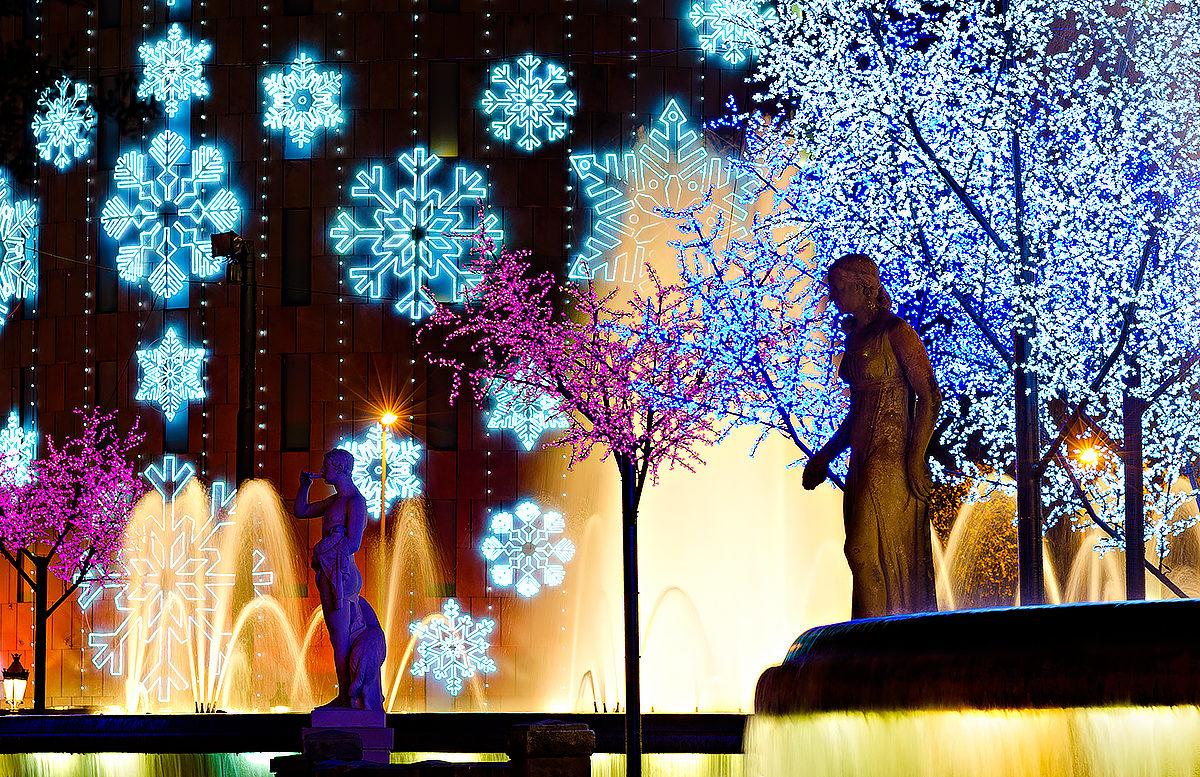 Рождественские иллюминации Барселоны