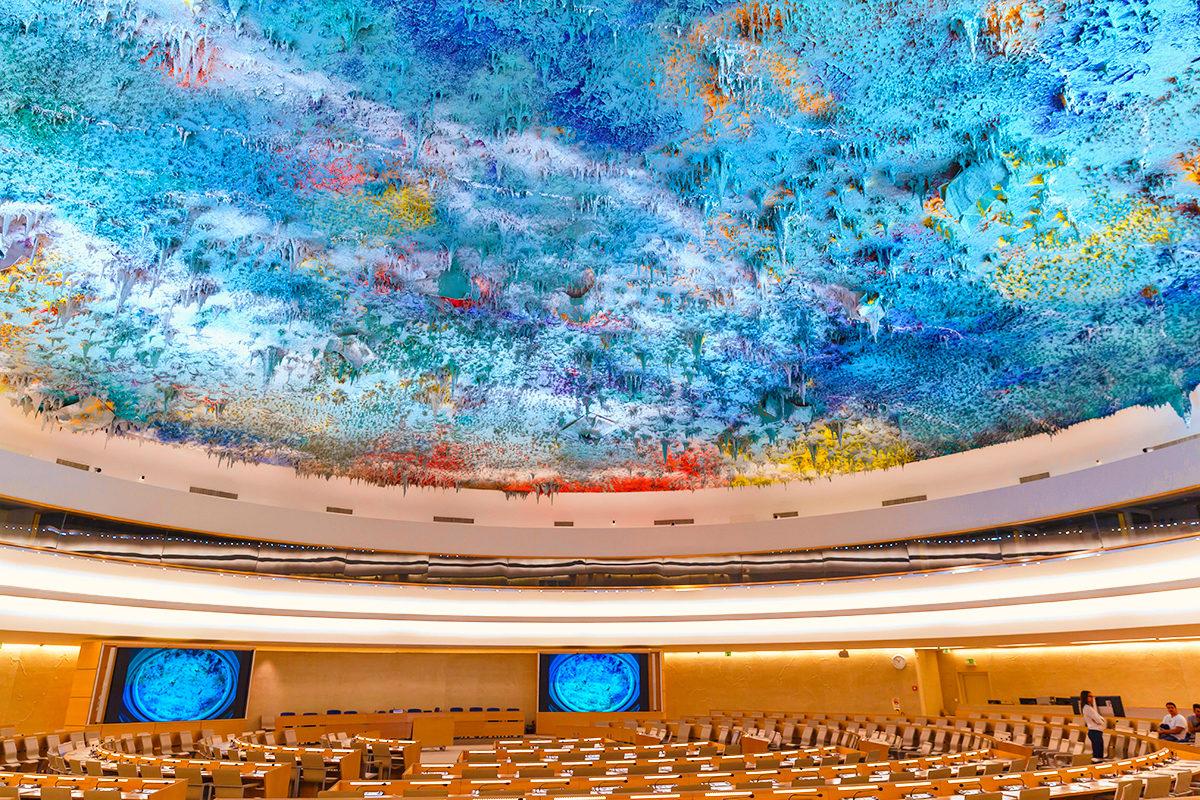 Зал прав человека и Альянса цивилизаций ООН, Дворец Наций в Женеве
