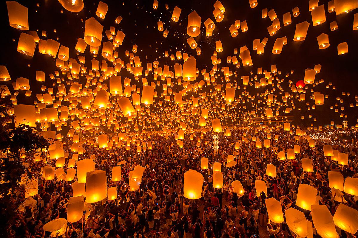Фестиваль летающих фонариков, Тайланд