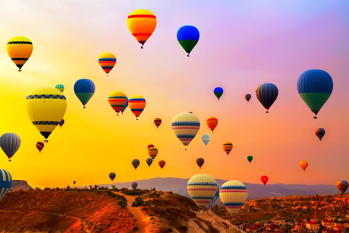 пейзажи Турции. Захватывающее путешествие на воздушном шаре