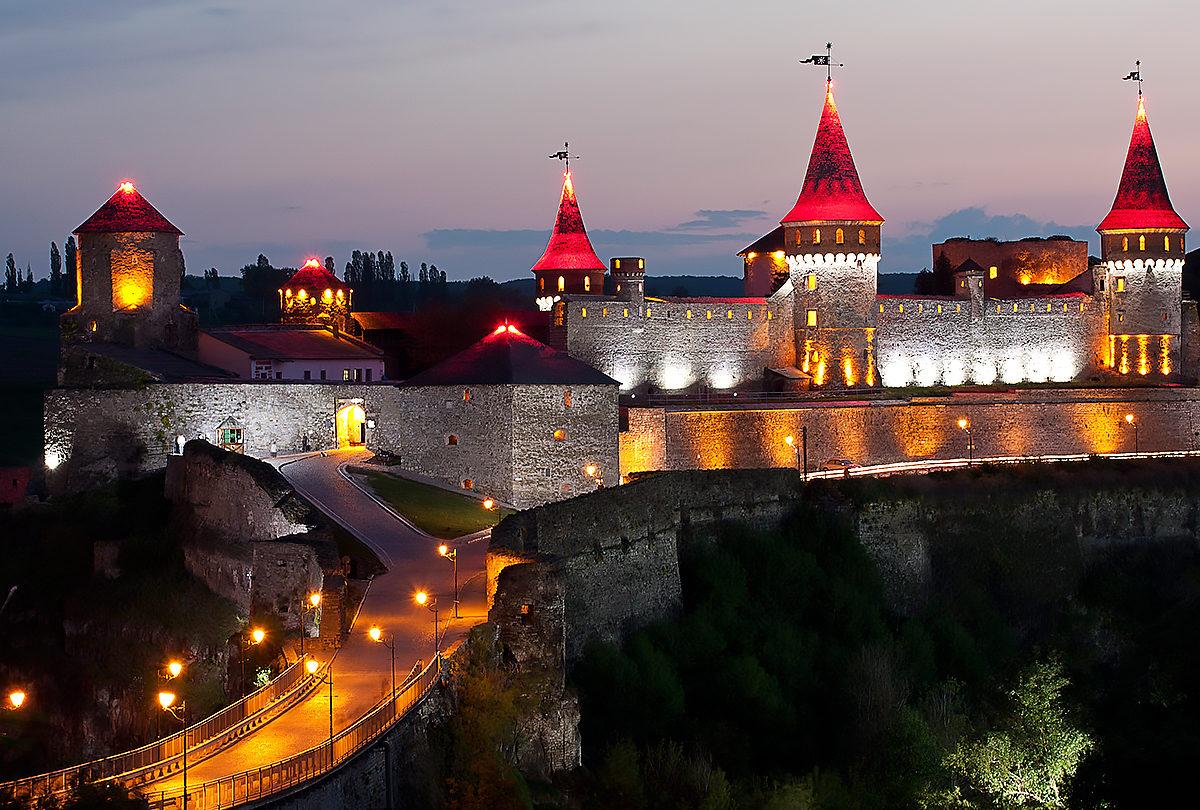 Half-ruined castle in Kamenetz-Podolsk