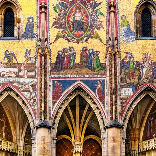 Золотые ворота и мозаика со сценами Страшного Суда