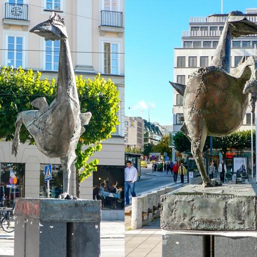 Памятник курице