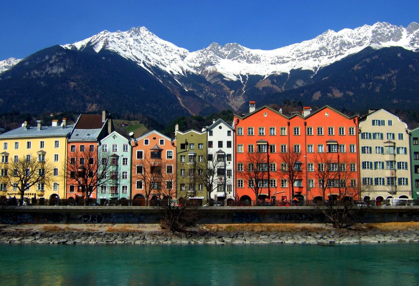 Набережная реки Инн, Инсбрук (Австрия)