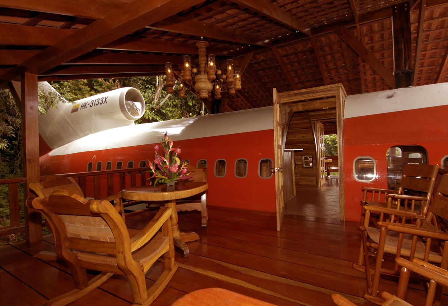 Отель Costa Verde в Боинге 727. Коста-Рика