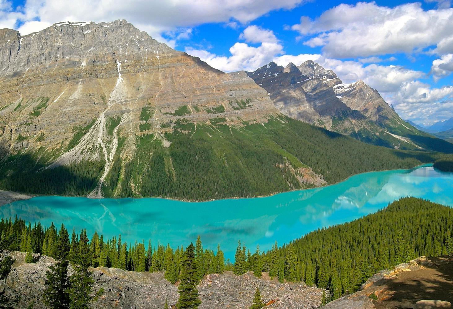 Озеро Пейто (Peyto Lake), Канада.