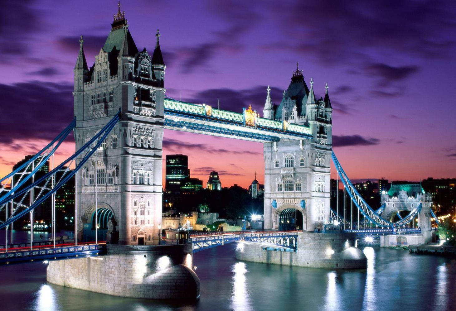 Тауэрский мост. Лондон. Темза. Великобритания (London Tower Bridge)