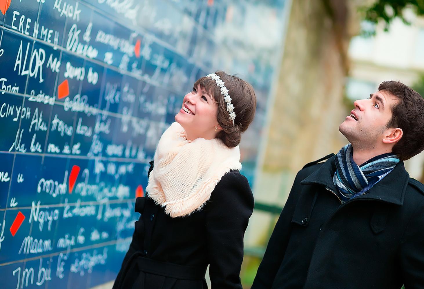 Стена любви в Париже, Франция