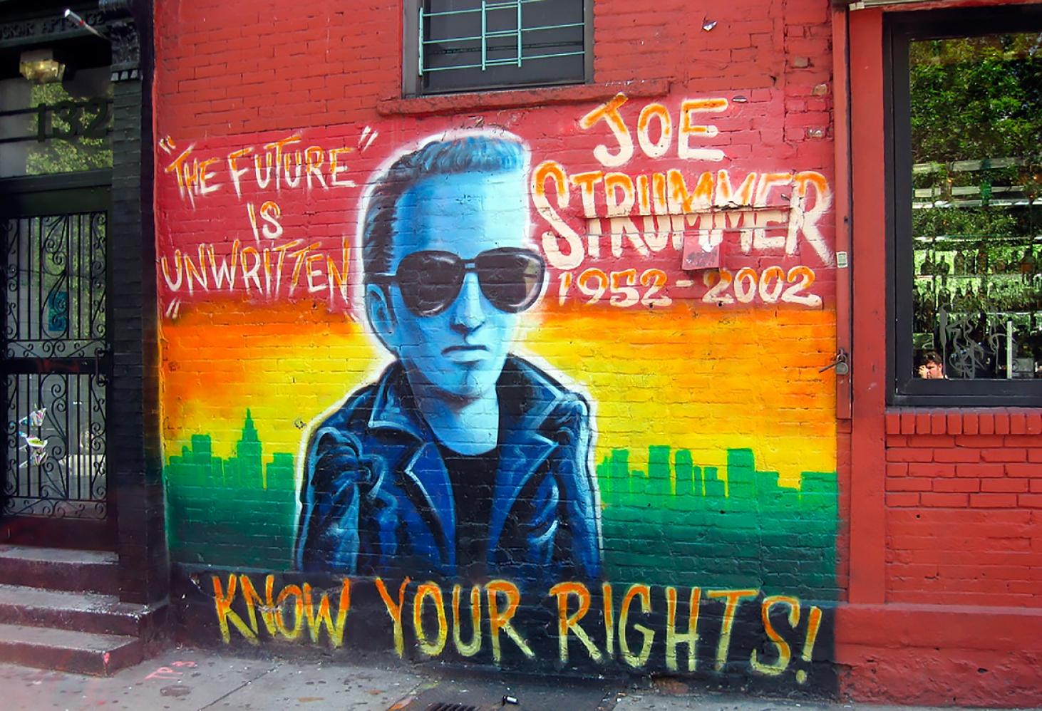 """Стена Джо Страммера, бар """"Ниагара"""", Нью-Йорк"""