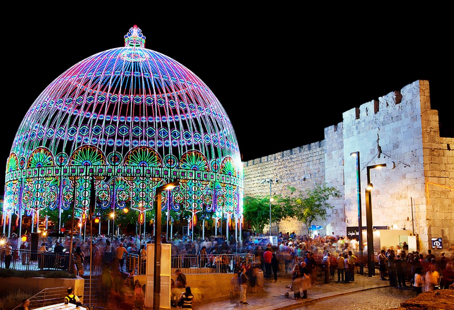 Фестиваль Света в Иерусалиме. июнь