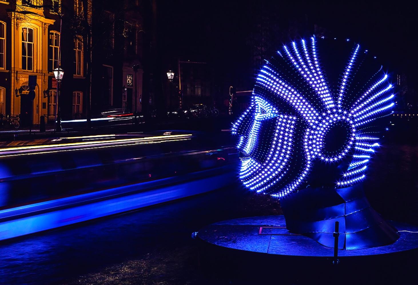 Фестиваль Света в Амстердаме. конец осени - начало зимы