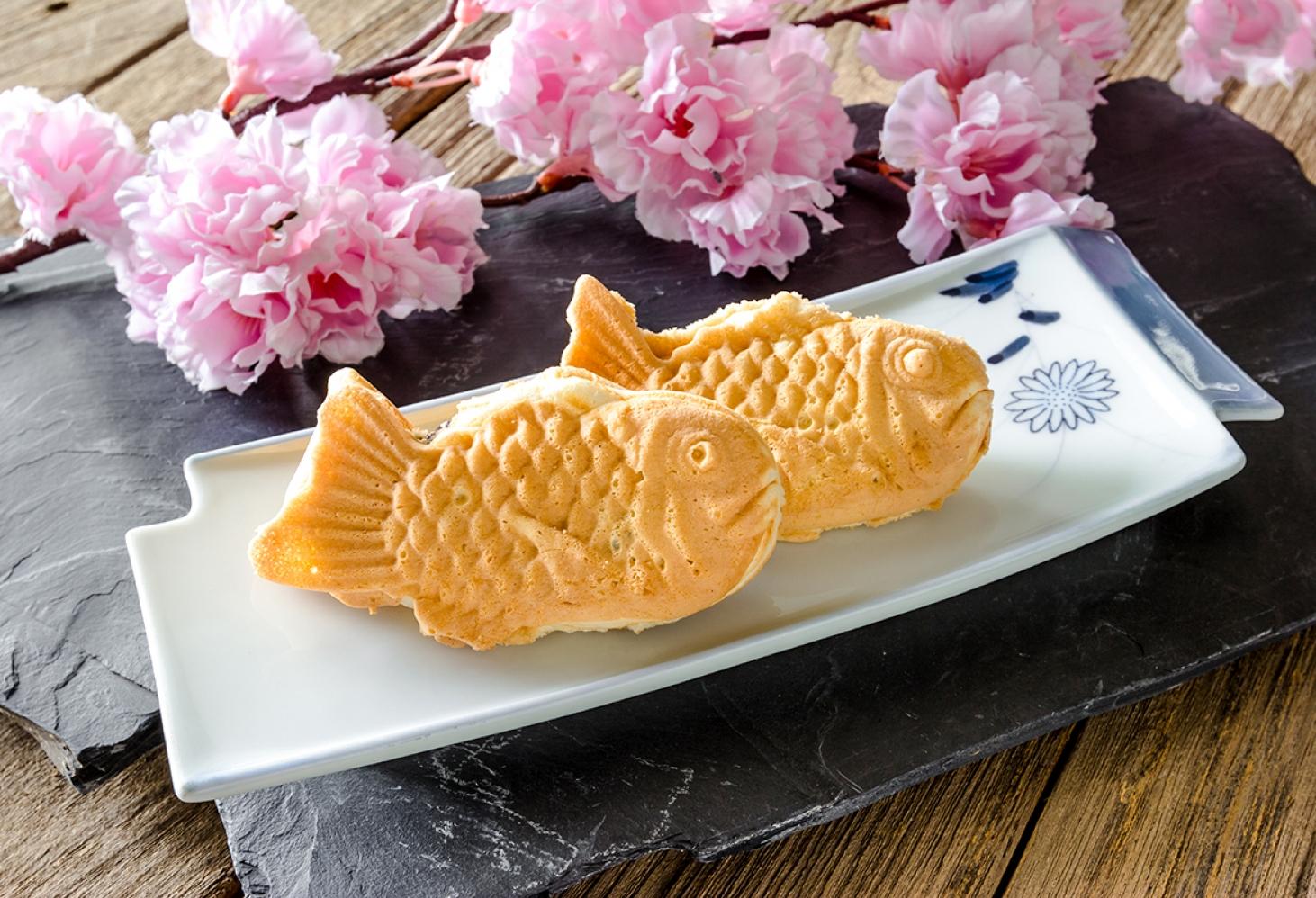 Печенье тайяки в форме рыбки