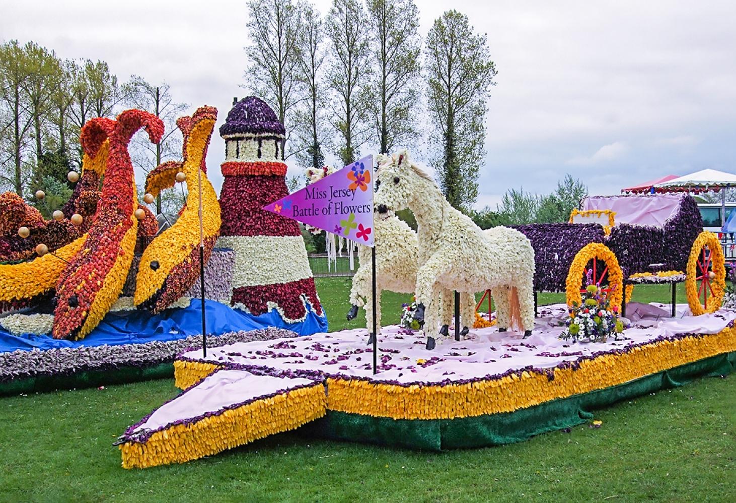 Парад цветов в Спалдинге, Графство Линкольншир, Великобритания, в начале мая
