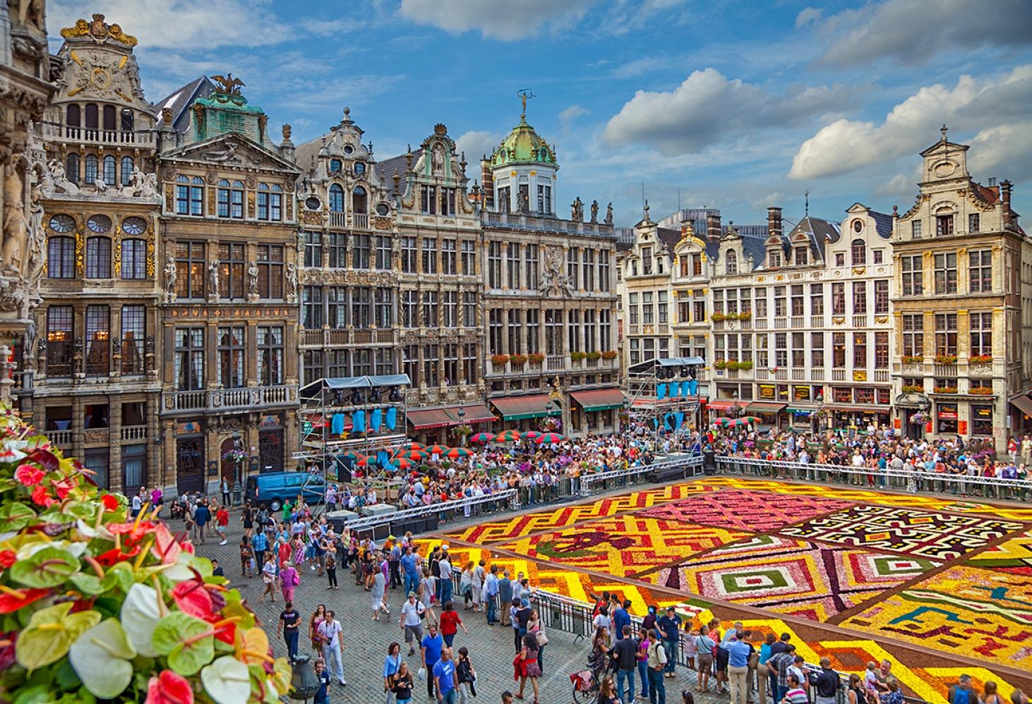 Брюссельский цветочный ковер, Бельгия, 16.08 - 19.08.2018
