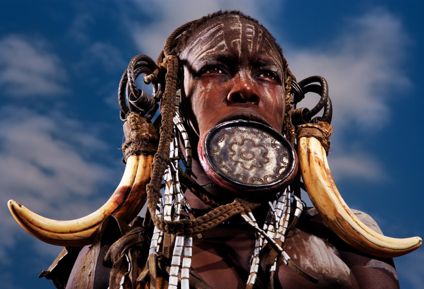 Эфиопия. Долина реки Омо. Племя Мурси