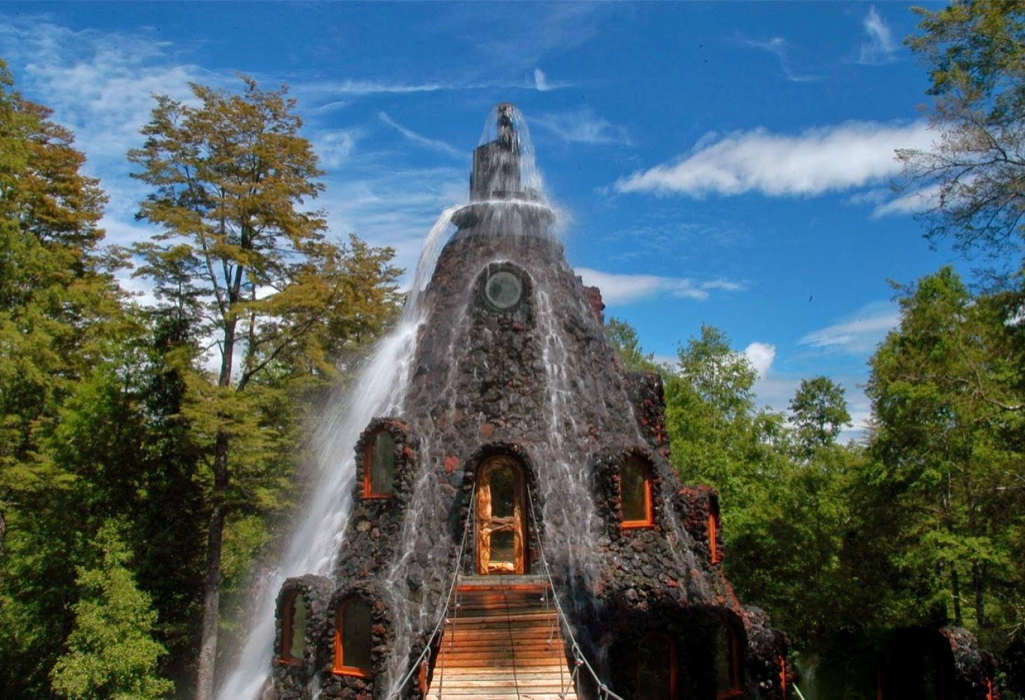 "Эко отель - водопад Magic Mountain Lodge ""Huilo-Huilo"". Чили"